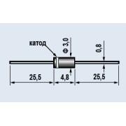 ДИОД 1N4004 do-41 (аналог (КД 243 Г))