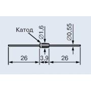 СТАБИЛИТРОН 0,5Вт 12В  (аналог (BZX55C12V))
