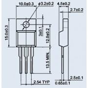 ТИРИСТОР BT136-600 to-220 (аналог (BT136-600D, BT136-600E))