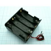 КОРОБ BH383 AAх8 (BH608)  (аналог (14500) пайка) для батареек