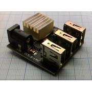 ПРЕОБРАЗОВАТЕЛЬ DC-DC 9В-12В/5В 8А автомобильный  3 USB