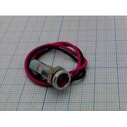 ЛАМПА 6мм 220В влагостойкая красная,светодиодная