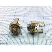 ГНЕЗДО 3,5 мм с гайкой №1-093 стерео, металл, на корпус,