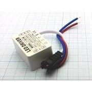 ДРАЙВЕР 1-3Вт 3-12В (-) светодиодный IP66