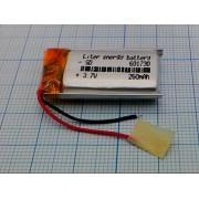 АККУМУЛЯТОР LP 601730-PCM (Li-POL) 3,7В 260мА/ч