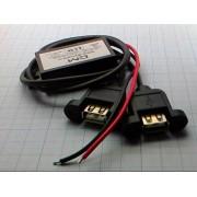 ПРЕОБРАЗОВАТЕЛЬ DC 12В/5В 3А 15Вт (крепление винт) с 2 USB выходами