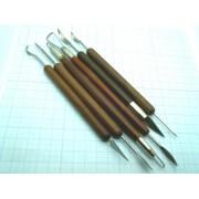 НАБОР РЕЗАКОВ 6шт  с деревянными ручками
