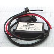ПРЕОБРАЗОВАТЕЛЬ DC 12В/5В 3А 15Вт (крепление винт) с 1 USB выходом