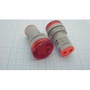 ИНДИКАТОР AD16-22DSV светодиодный, вольтметр  22мм 20-500В