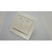 ВЫКЛЮЧАТЕЛЬ C0123 белый (аналог (Oval 6123)) 2-кл, с индикацией 10А 250В