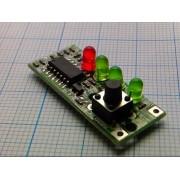 МОДУЛЬ индикатора заряда аккумулятора 3S 9-12,6В 4св-да