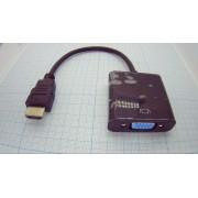 ВИДЕОКОНВЕРТЕР вход HDMI шт. - выход VGA гн.  (аналог (UC-01)) №5-983В