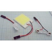 МАТРИЦА светодиодная 12В 48св-в 35х40мм  белая для авто с адаптером
