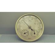 БАРОМЕТР THB9392 встраиваемый золотой + гигрометр, термометр 130мм