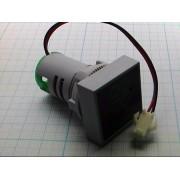 ГОЛОВКА ИЗМЕРИТЕЛЬНАЯ амперметр 22мм 0-100А квадратная, зеленый