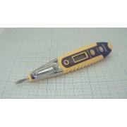 ТЕСТЕР ручка индикатор напряжения 12-220В с дисплеем и подсветкой