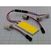 МАТРИЦА светодиодная 12В 36св-в 20х50мм  белая для авто с адаптером