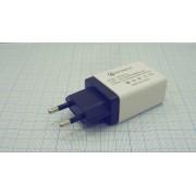 АДАПТЕР ПИТАНИЯ AR-QC  5В 3,5А USB 3.0