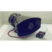 СИРЕНА звуковая беспроводная с пультом  12В 100Вт 120-150дБ