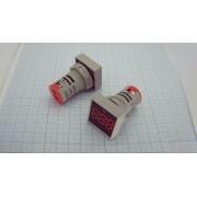 ГОЛОВКА ИЗМЕРИТЕЛЬНАЯ вольтметр 22мм DC 5-60В квадратная красная