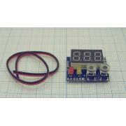 ВОЛЬТМЕТР цифровой 0-100В с индикацией заряда и перезаряда  (питание 4-30В)