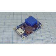 ПРЕОБРАЗОВАТЕЛЬ DC-DC  (аналог micro USB повышающий) 2-24В/28В MT3608 LM2577