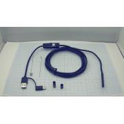 БОРОСКОП 5,2мм 2м USB/MicroUSB/TYPE-C жесткий кабель