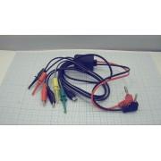 ПЕРЕХОДНИК для ЛБП (ремонт сотовых телефонов и планшетов) + micro USB 2 зажима крокодила + 4 клипсы