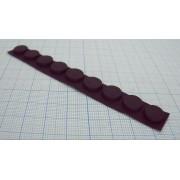 НОЖКА ПРИБОРНАЯ RF-009 резина, черный 10,8х3мм, самоклеящаяся,