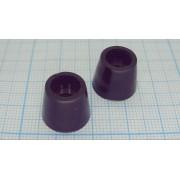 НОЖКА ПРИБОРНАЯ RF-015 резина, черный 12х5.1мм, самоклеящаяся,