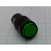 ИНДИКАТОР D16PLR1-000CG 24В/40мА  зеленый