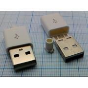 ВИЛКА USBA-SPBW в белом корпусе 5 pin на кабель
