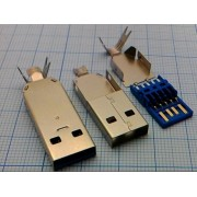 ВИЛКА USBA-3.0-SP  на кабель