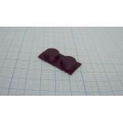 НОЖКА ПРИБОРНАЯ RF-005 резина,черный 13.0х5,0мм самоклеящаяся