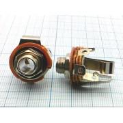 ГНЕЗДО 6,3 мм №1-171 стерео, на корпус, мет.