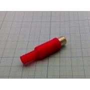 ГНЕЗДО RCA  на кабель, красный