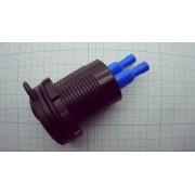 ЗАРЯДНОЕ УСТРОЙСТВО автомобильное врезное USB QC3.0 3А с вольтметром и выключателем прикуривателя) (замена штатного