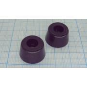 НОЖКА ПРИБОРНАЯ RF-022 резина, черный 11,3х5,6мм, самоклеящаяся,