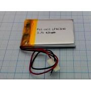АККУМУЛЯТОР LP 403040-PCM (Li-POL) 3,7В 420мА/ч