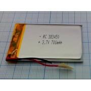 АККУМУЛЯТОР LP 383450-PCM (Li-POL) 3,7В 700мА/ч