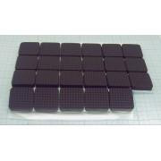 НОЖКА ПРИБОРНАЯ RF-007 резина, черный 19х7,2мм, самоклеящаяся,