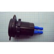 ЗАРЯДНОЕ УСТРОЙСТВО автомобильное врезное USB QC3.0 3А (замена штатного прикуривателя)  с вольтметром и амперметром