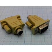 ПЕРЕХОДНИК DB9M/MD6M (PS/2 - COM) для мыши