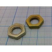 ГАЙКА DIN934-1 алюминиевая (25шт) М7 3х12мм без фаски