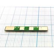 ПЛАТА ЗАЩИТЫ MOS для аккумулятора 18650 2А 3,7В прямоуг.