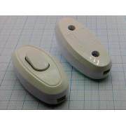 ВЫКЛЮЧАТЕЛЬ SQ1806-0021  на шнур проходной белый