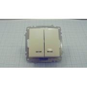ВЫКЛЮЧАТЕЛЬ EMV10-123-10  2-кл с индик 10А 230В белый