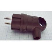 ВИЛКА 106-0400-0109 кабельная IP44 электр. 16А 250В с/з с ручкой,