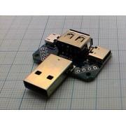 ПЛАТА разветвителя питания  USB-A, USB-B, microUSB, TYPE-C