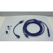 БОРОСКОП 8мм 2м мягкий кабель  USB/MicroUSB/TYPE-C